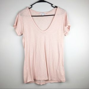 Standard James Perse Pink S/S Tee Shirt Size 2